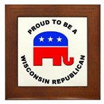 Wisconsin Republican Pride Framed Tile