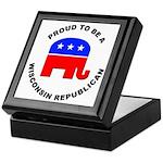 Wisconsin Republican Pride Keepsake Box