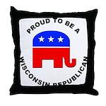 Wisconsin Republican Pride Throw Pillow