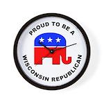 Wisconsin Republican Pride Wall Clock