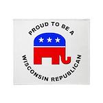 Wisconsin Republican Pride Throw Blanket