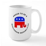Wisconsin Republican Pride Large Mug