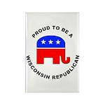 Wisconsin Republican Pride Rectangle Magnet (100 p