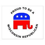 Wisconsin Republican Pride Small Poster