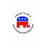 Wisconsin Republican Pride Sticker (Rectangle 10 p