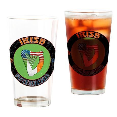 Irish American Harp Drinking Glass