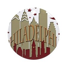 Philly Skyline hot Ornament (Round)