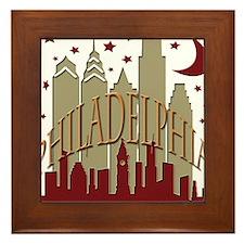 Philly Skyline hot Framed Tile