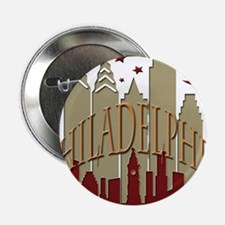 "Philly Skyline hot 2.25"" Button"