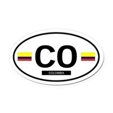 COLOMBIA.png Oval Car Magnet