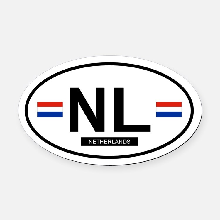 NETHERLANDS.png Oval Car Magnet