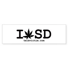 """""""I Weed SD"""" Bumper Bumper Sticker"""