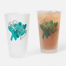 Scleroderma Love Hope Cure Drinking Glass