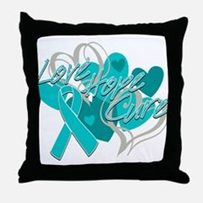 Scleroderma Love Hope Cure Throw Pillow