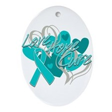 Scleroderma Love Hope Cure Ornament (Oval)