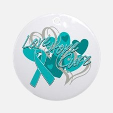 Scleroderma Love Hope Cure Ornament (Round)