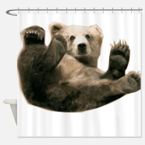 Brown Bottom Bear Cub Playful Fuzzy Wuzzy Shower C