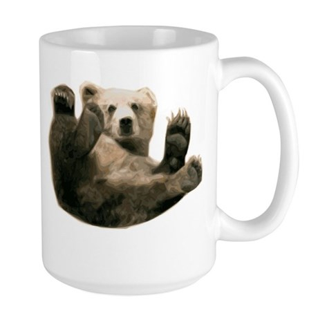 Brown Bottom Bear Cub Playful Fuzzy Wuzzy Large Mu