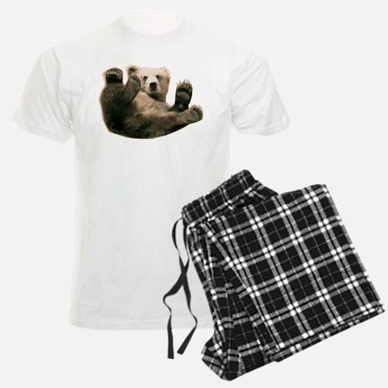 Brown Bottom Bear Cub Playful Fuzzy Wuzzy Pajamas