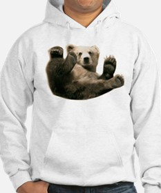 Brown Bottom Bear Cub Playful Fuzzy Wuzzy Hoodie