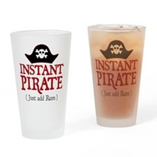 Instant Pirate - Drinking Glass