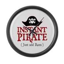 Instant Pirate - Large Wall Clock
