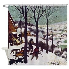 Pieter Bruegel Hunters in the Snow Shower Curtain