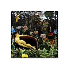 """Henri Rousseau The Dream Square Sticker 3"""" x 3"""""""