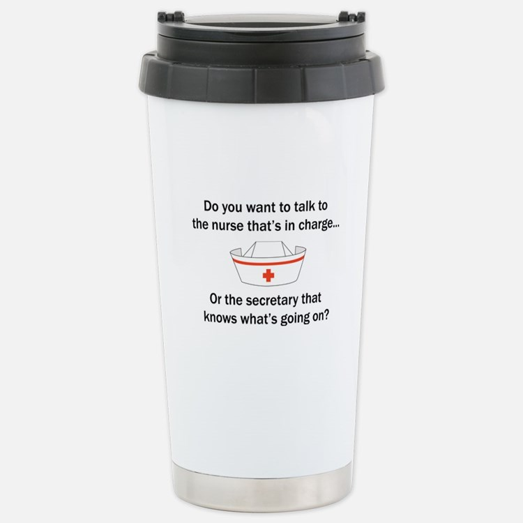 Nurse-Secretary Travel Mug
