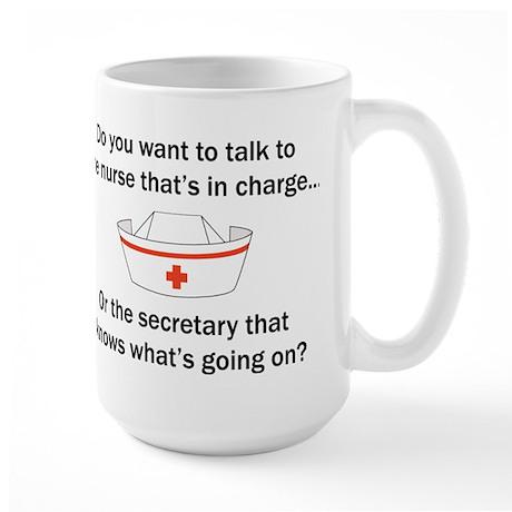 Nurse-Secretary Large Mug