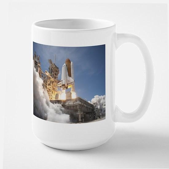 Atlantis Launch STS 132 Large Mug