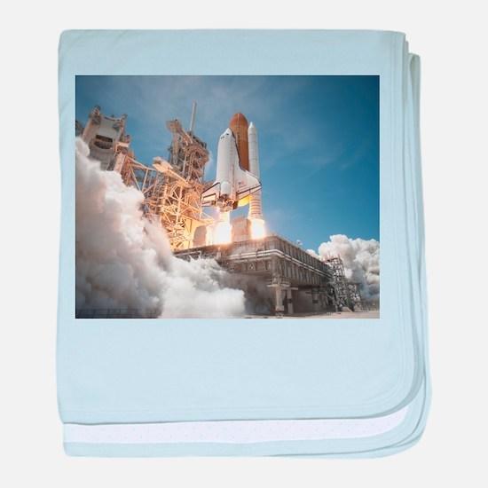 Atlantis Launch STS 132 baby blanket