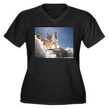Atlantis Launch STS 132 Women's Plus Size V-Neck D