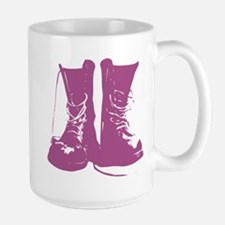 Purple Combat Boots with Untied Laces Mug