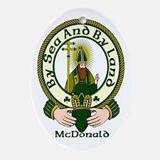 McDonald Clan Motto Oval Ornament