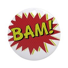 Comic Book BAM! Ornament (Round)