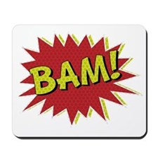 Comic Book BAM! Mousepad