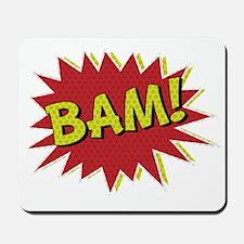 Comic Book BAM! Mousepad