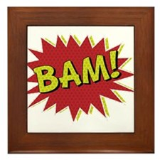 Comic Book BAM! Framed Tile