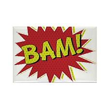 Comic Book BAM! Rectangle Magnet