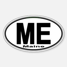 Cute Maine euro Sticker (Oval)