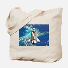 Shuttle Atlantis over Bahamas Tote Bag