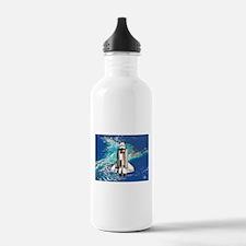 Shuttle Atlantis over Bahamas Water Bottle