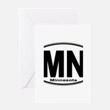 Minnesota Euro-Style Oval Greeting Cards