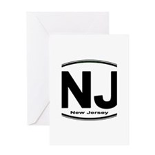 New Jersey European-style Oval Greeting Cards