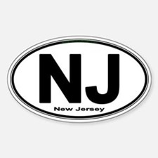Unique New jersey Sticker (Oval)