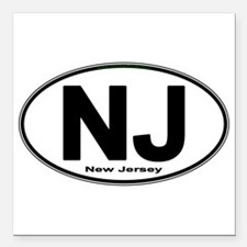 """Cute New jersey Square Car Magnet 3"""" x 3"""""""