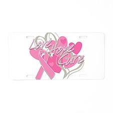 Breast Cancer Love Hope Cure Aluminum License Plat