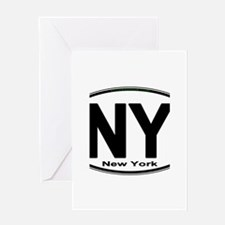 New York European Style Oval Greeting Cards
