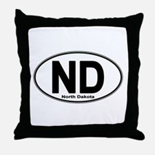 Cute North dakota oval Throw Pillow